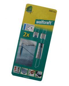 Stiksavsklinger 2 x HCS 80/61mm Wolfcraft 2307000
