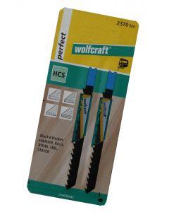 Stiksavsklinger 2 x HCS 78mm Wolfcraft 2370000