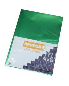 Plastic chartek Impega A4 25 stk grønne