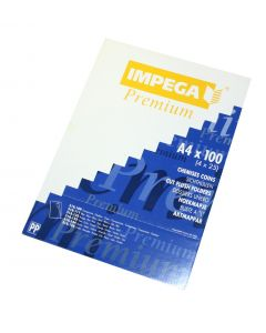 Plastic chartek Impega A4 4 x 25 stk grønne
