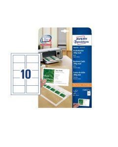 Avery C32011 business cards 200g mat 10 ark a 10 stk 85x54mm