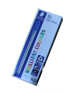 Staedtler briliant colours triplus fineliner 0,3mm blå pk a 10 stk