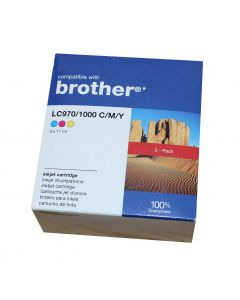 Compatible Brother LC970/1000 C/M/Y