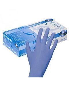 Engangshandsker nitril unigloves Blue Pearl 100 stk. str. 6-7 S