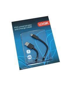 Logik PS3 universal play and charge kabel 3m