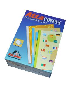 Thermal binding covers fra Attalus ks. á 100 stk hvid/klar