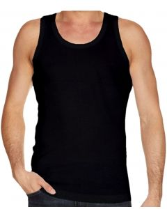 Basic Tank Top i Sort Str. X-Large
