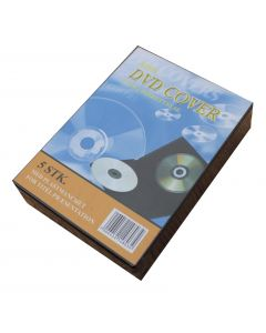 Dvd cover 9mm pk á 5 stk