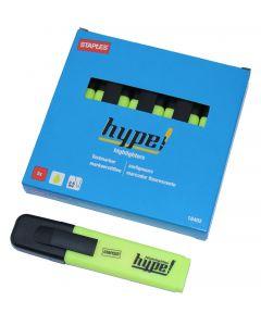Staples Hype highlighters æske á 5 stk gul