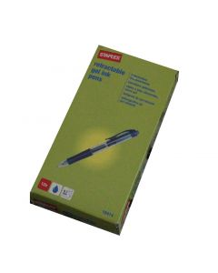 Staples 18414 kuglepen 0.7mm pk á 12 stk blå