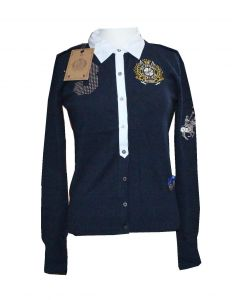 HV Society Cardigan Adine i Navy Str. Large