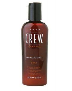 American crew classic 3-in-1 shampoo conditioner and body wash 100ml