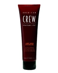 American crew official supplier to men light hold styling gel 250ml