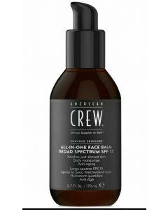 American crew shaving skincare all-in-one face balm broad spectrum SPF15 170ml