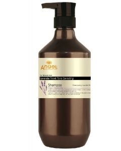 Angel for blonde hair lavender violet tone correcting shampoo 400ml