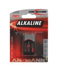 Ansmann alkaline e-block 9V batteri MN1604