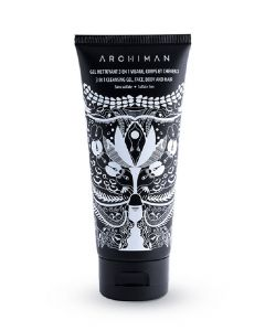 Archiman 3 in 1 cleansing gel face body and hair 100ml