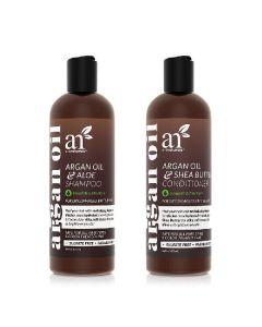 Artnaturals argan oil aloe shampoo & argan oil shea butter conditioner 2 x 473ml