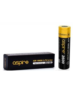Aspire li-ion rechargeable battery 2600 icr 18650 3.7V