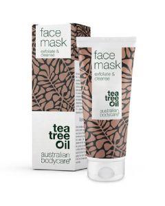 Australian bodycare tea tree oil face mask exfoliate & cleanse 100ml