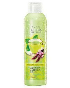 Avon naturals body care infusions collection green tea & verbena body lotion 200ml (Dato)