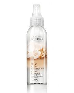Avon naturals cosy vanilla & sandalwood scented spritz 100ml (Dato)