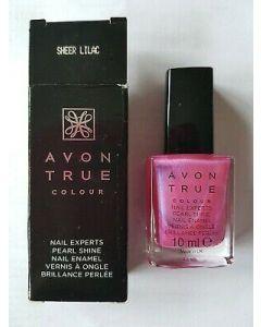 Avon true colour nail experts pearl shine sheer lilac 10ml