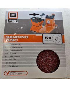 B prof sanding disc rondel Ø 178x22mm + 6S P16 5pk