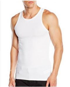 Basic Tank Top i Hvid Str. Large