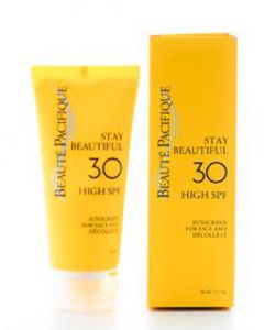 Beauté pacifique stay beautiful sunscreen for face and décolleté SPF30 high 50ml