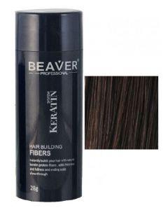 Beaver professional system keratin hair building fibers dark brown 28g