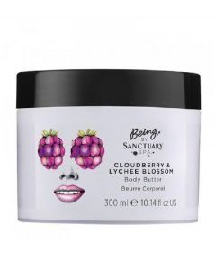 Being by sanctuary spa cloudberry & lychee blossom body butter 300ml