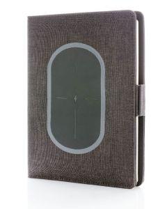 Bestsecret konferencemappe med trådløs oplader + notesbog 5000mah sort
