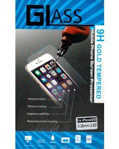 Glass 9H gold tempered beskyttelsesglas til Iphone 5/5S