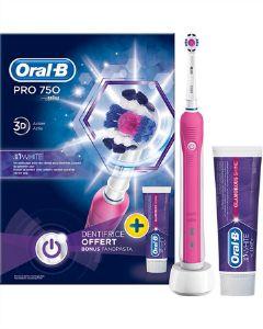 Braun oral-b el-tandbørste pro 750 3D action 3D white
