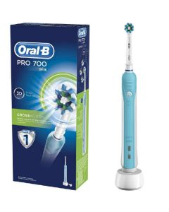Braun oral-b pro 700 crossaction rechargeable toothbrush