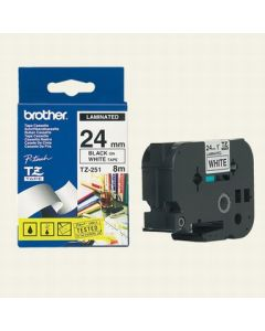 Brother TZ-251 24mm sort p
