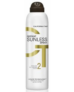 California tan sunless instant sunless spray develops rich bronze color 2 177ml