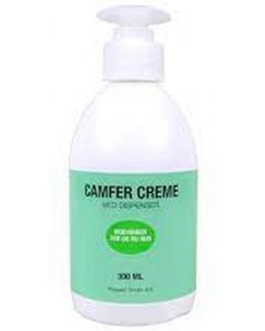 Camfer creme med dispenser modvirker tør og ru hud 300ml