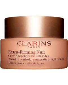 Clarins extra-firming nuit wrinkle control regenerating night cream 50ml