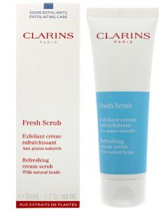Clarins paris fresh scrub refreshing cream scrub with natural beads 50ml
