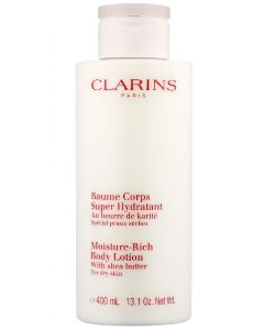 Clarins paris moisture-rich body lotion with shea butter for dry skin 400ml
