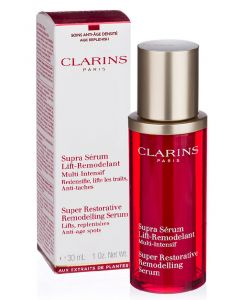 Clarins paris super restorative remodelling serum lifts replenishes anti-age spots 30ml