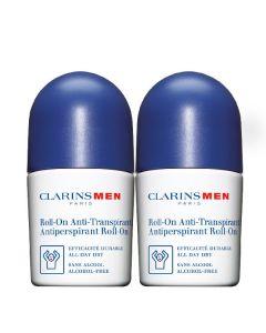 Clarins roll-on deodorant duo clarinsmen antiperspirant roll-on 2 x 50ml