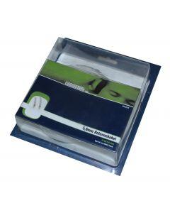 Connectech Antennekabel 5,6mm dobbelt skærm hvid 10m CTV-4510