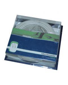 Connectech Antennekabel 5,6mm dobbelt skærm hvid 25m CTV-4525