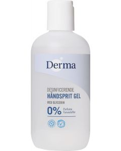 Derma desinficerende håndsprit gel med glycerin 0% 250ml