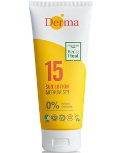 Derma sun lotion 0% perfume 15 medium spf 175ml