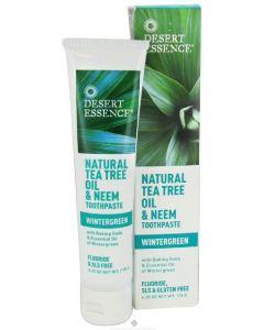 Desert essence tea tree oil & neem toothpaste wintergreen 176g
