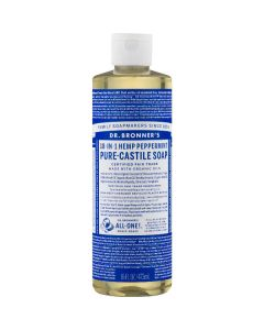 Dr. Bronner's 18-in-1 peppermint pure-castile soap 475ml